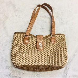 Handbags - Wicker basket shoulder bag